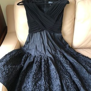 ADRIANNA PAPELL black formal wear dress